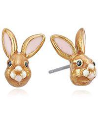 Kate Spade - S Bunny Stud Earrings, Multi - Lyst