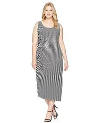d709b68bb21da Vince Camuto - Specialty Size S Plus Size Sleeveless Side Ruched Amalfi  Stripe Dress - Lyst