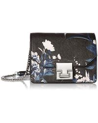 Ivanka Trump - Hopewell Mini Shoulder Blk Floral Print - Lyst