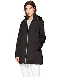 Via Spiga - Plus-size A-line Lightweight Packable Rain Jacket - Lyst