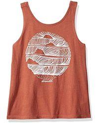 O'neill Sportswear - Hideaway Graphic Screen Print Tank Top - Lyst