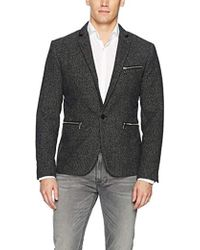 Guess - Newham Mini Check Blazer Jacket - Lyst