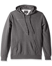 fc95c73ad Guess - Long Sleeve Roy Pop Over Logo Hoodie - Lyst