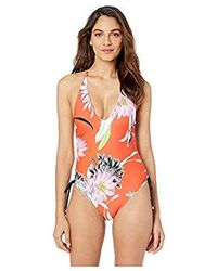 Trina Turk - High Leg V-front One Piece Swimsuit - Lyst