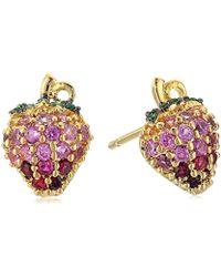 Noir Jewelry - Strawberry Stud Earrings - Lyst