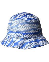 9193b8a3a4ccd Lyst - Original Penguin Palm Print Flat Visor Baseball Cap in Blue ...