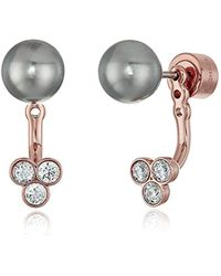 Michael Kors - Mkj6301710 Modern Classic Pearl Crystal And Pearl Front-back Stud Earrings - Lyst