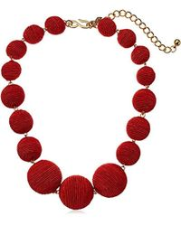Kenneth Jay Lane - Thread Ball Necklace - Lyst