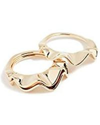 "Kate Spade - ""stackable Set"" Frilled To Pieces Ring - Lyst"