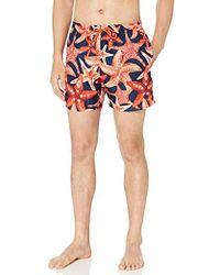 BOSS Pattern Medium Length Swim Trunk - Multicolor