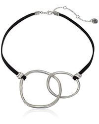 """The Sak - Double Link Collar Silver Necklace, 16"""" - Lyst"""