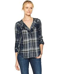 PAIGE - Bernette Shirt India Ink - Lyst