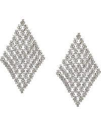 Guess - S Post Drop Earrings W/stones - Lyst