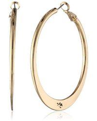 "Kenneth Cole - ""shiny Ear Update"" Gold Sculptural Hoop Earrings - Lyst"