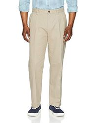 Amazon Essentials - Classic-fit Wrinkle-resistant Pleated Chino Pant - Lyst
