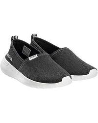 Lyst - Adidas Neo Lite Racer Slip On W Casual Sneaker in Black ... 755b7f863