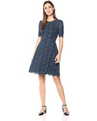 Lark & Ro - Half Sleeve Lace Crewneck Sheath Dress - Lyst