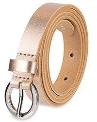 NYDJ 100% Leather Slim Skinny Waist Dress Belt For Jeans Pants - Pink