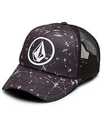 d3f93bf59d4 Lyst - Volcom Nacho Trucker Hat in Black