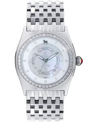L.A.M.B. Lbg2847040 Classic Nine Link Crystal Accented Watch - Multicolor