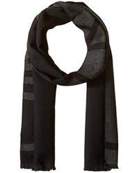 fd78dcefc860e Lyst - Calvin Klein Ombre Stripe Jersey Muffler Scarf in Black for Men