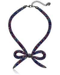 "Betsey Johnson - ""dark Shadows"" Mesh Bow Necklace - Lyst"