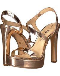 ec994533804 Lyst - Nina Naomi Crystal Embellished Sandal in Metallic