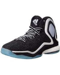 ec26287abc62 Lyst - adidas Performance D Rose 5 Boost Basketball Shoe in Black ...
