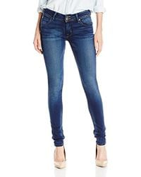 42126930c3c Hudson Jeans Collin Mid Rise Skinny Jeans - Revelation in Blue - Lyst