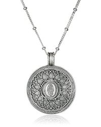 Satya Jewelry - Gold Hamsa Mandala Pendant Necklace - Lyst