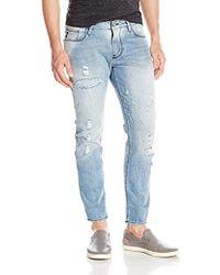 Armani Jeans - Light Wash Slim Fit Denim With Vintage Look - Lyst