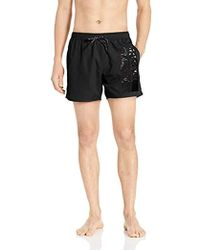 d114e6589b Armani Exchange - | Swimming Trunks With Rmni Exchnge Grphic - Lyst