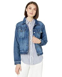 295c94645dc0 Hudson Jeans Rose Embroidered Classic Denim Jacket In Distinction in ...