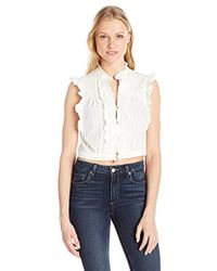 Plenty by Tracy Reese - Cropped Victorian Top - Lyst