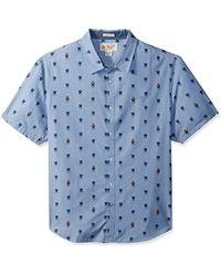 Original Penguin - Short Sleeve Grillin Chambray Shirt - Lyst