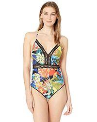 d4c41358af Tori Praver Swimwear Roux Floral One-piece Swimsuit - Lyst