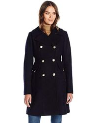 Vince Camuto - Db Military Inspired Wool Coat - Lyst