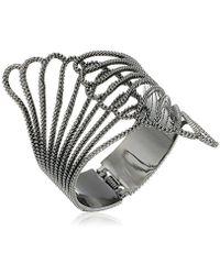 """Guess - """"basic Clam Cuff Bracelet - Lyst"""