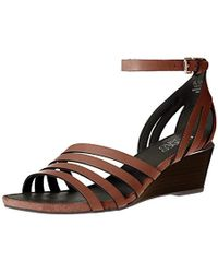 62aab877740c Lyst - Franco Sarto Dade Wedge Sandal in Metallic