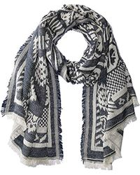 Woolrich - Patched Tapestry Wrap Scarf - Lyst