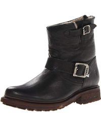 e10e8f697f6f7 Frye Valerie 6 Buckled Leather Boots in Black - Lyst