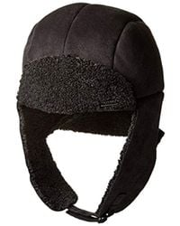 463d82b045eb7 Lyst - Crown Cap Cole Shearling Aviator Hat in Black for Men