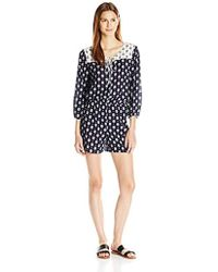 9f2f51627a5f Two By Vince Camuto - L s Madras Foulard Crinkle Gauze Romper - Lyst