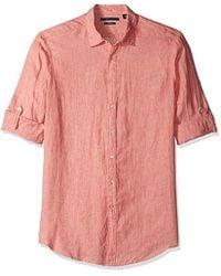 80d81aae76f Lyst - Columbia Harborside Slim Fit Linen Camp Shirt in White for Men