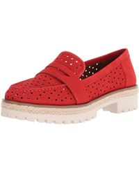 Nine West - Gradskool Nubuck Oxford Flat - Lyst