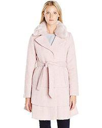 Betsey Johnson - Wool Skirted Coat - Lyst