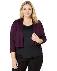 Calvin Klein - Plus-size Lurex Basic Shrug Sweater - Lyst