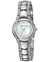 Anne Klein - Ak/2885mpsv Swarovski Crystal Accented Silver-tone Bracelet Watch - Lyst