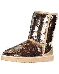 UGG - W Classic Short Sequin Fashion Boot - Lyst