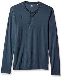 AG Jeans - Clyde Long Sleeve Henley - Lyst